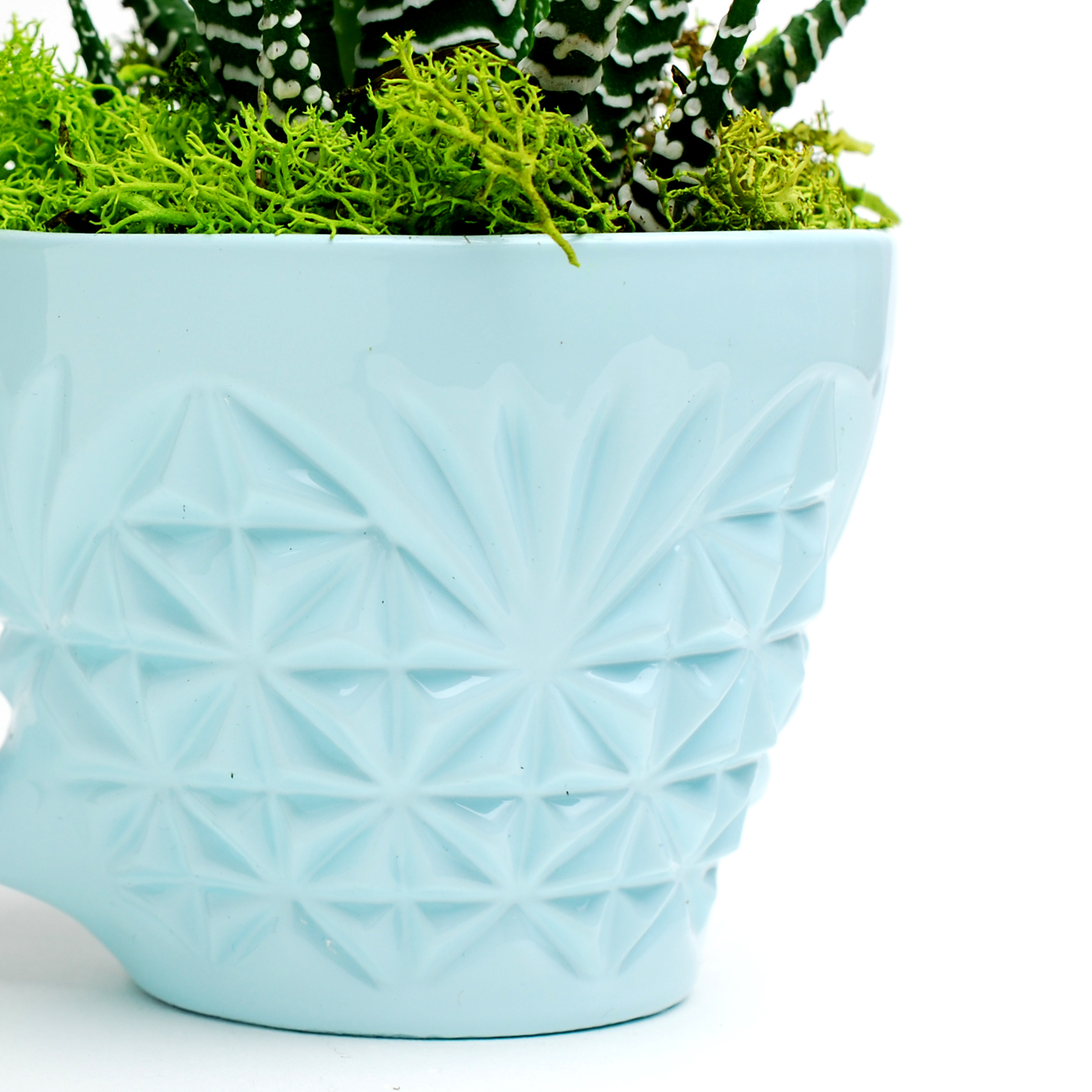 Light Blue – Singleton Crystal Punch Cup Planter