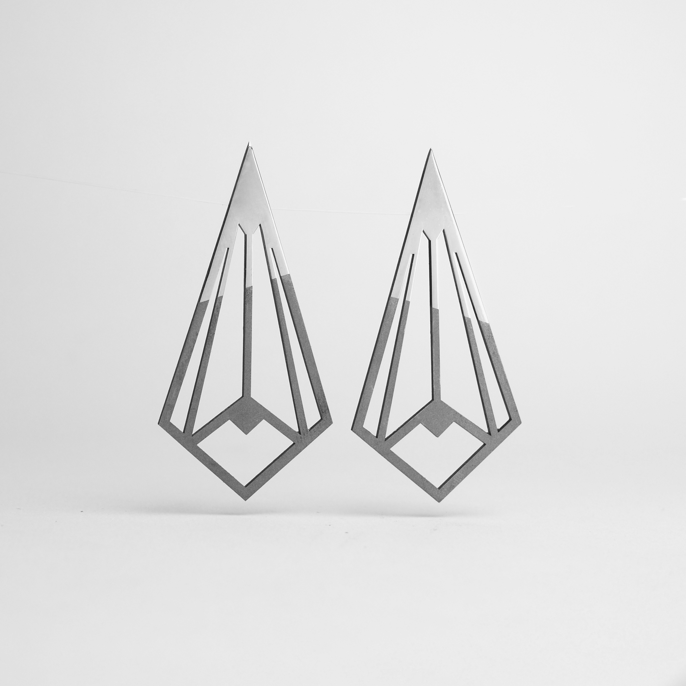 Stainless Steel Art Deco Collection -Diamonds