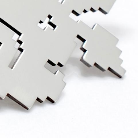 Cross Stitch Pixel Series -Flower Earrings