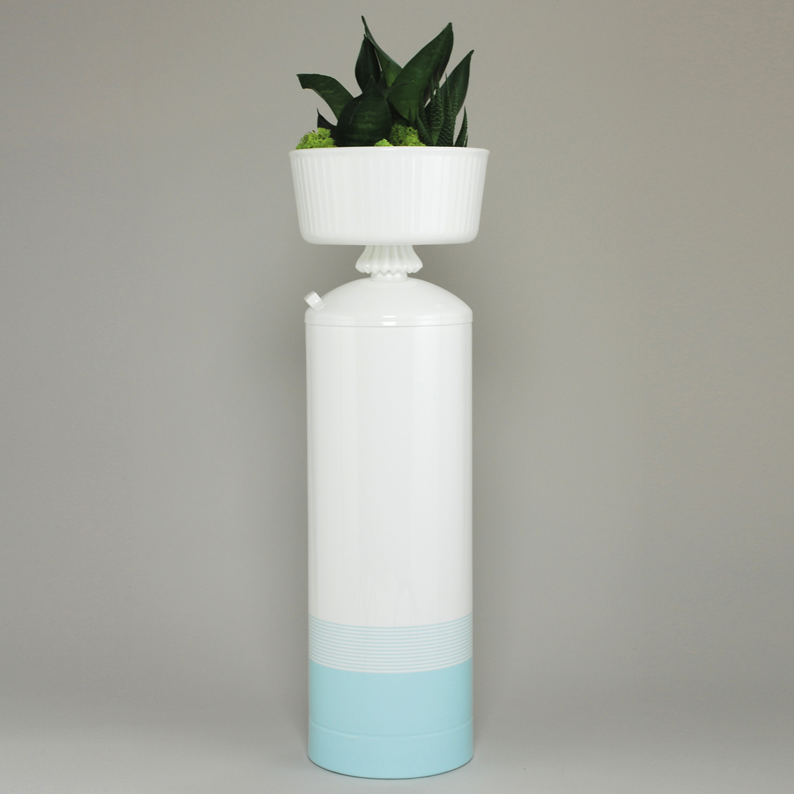 Light Blue Striped -26″ Planter