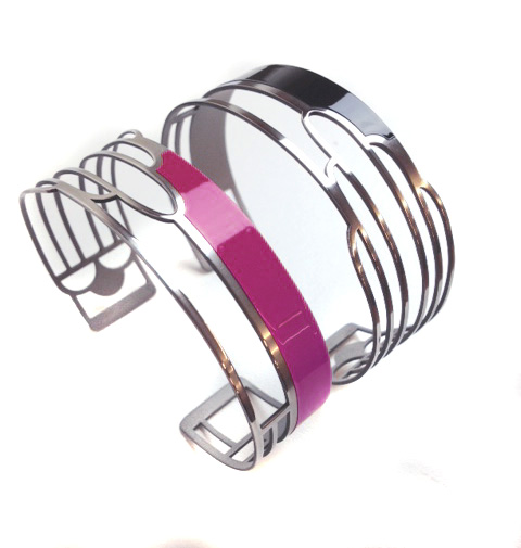 Magenta Art Deco Bracelet