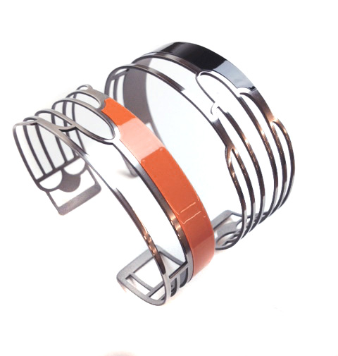 Orange Art Deco Bracelet