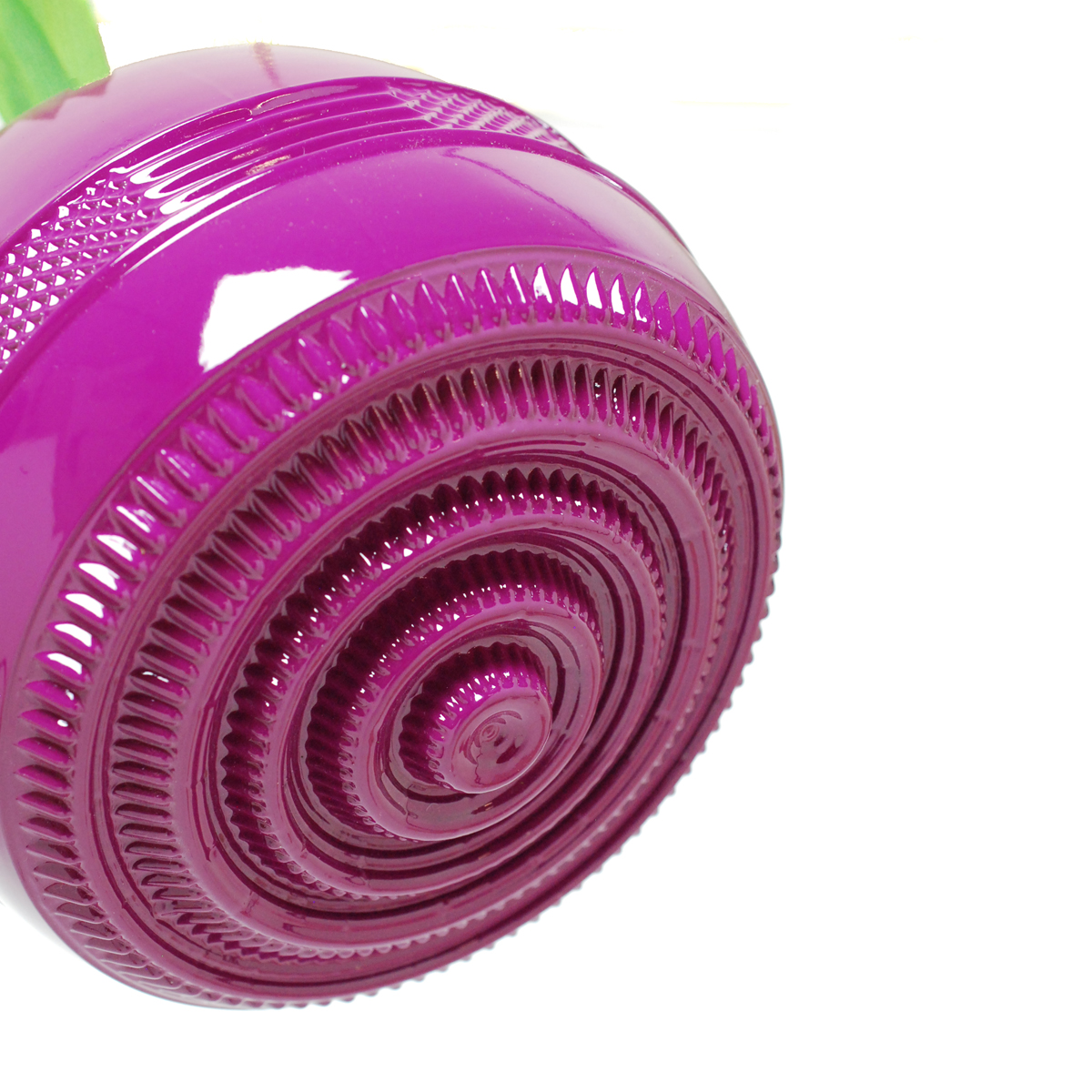 Large Magenta Spiral Bottom Hanging Planter