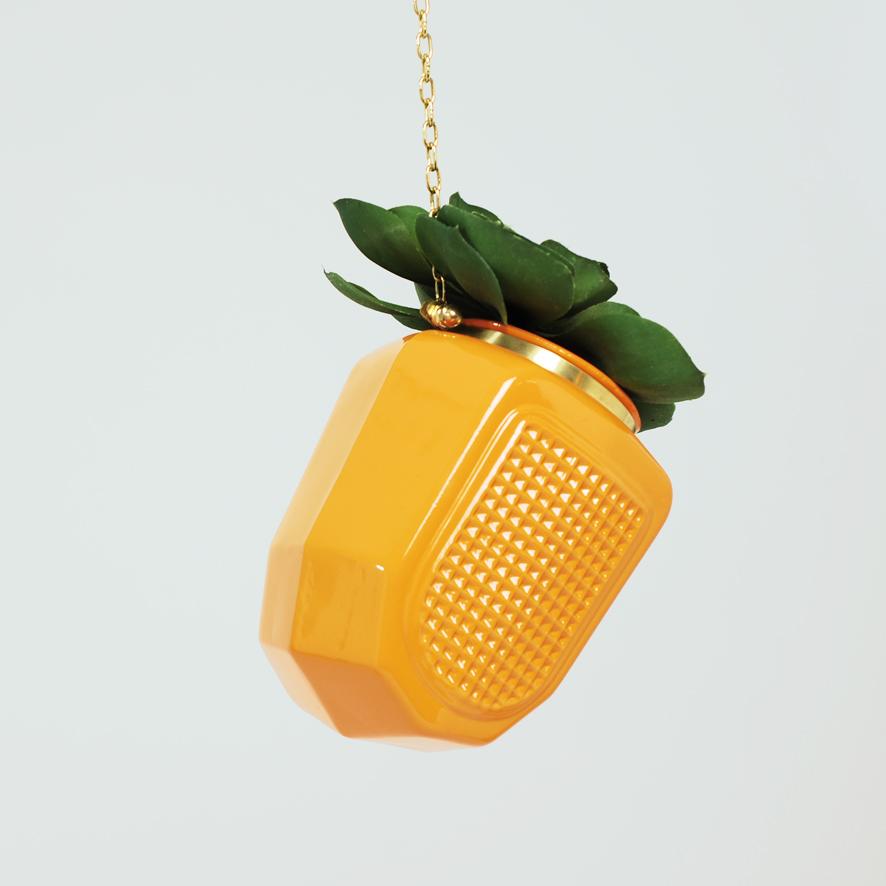 Small Orange Grill Hanging Planter