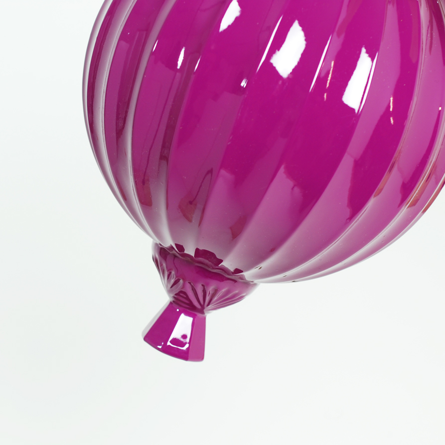 Large Magenta Bubble Hanging Planter