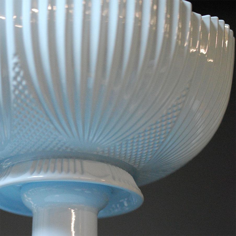 Light Blue Scalloped Decanter Planter