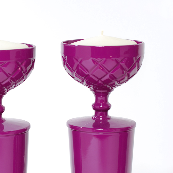 Magenta Candle Sticks From Candle Sticks