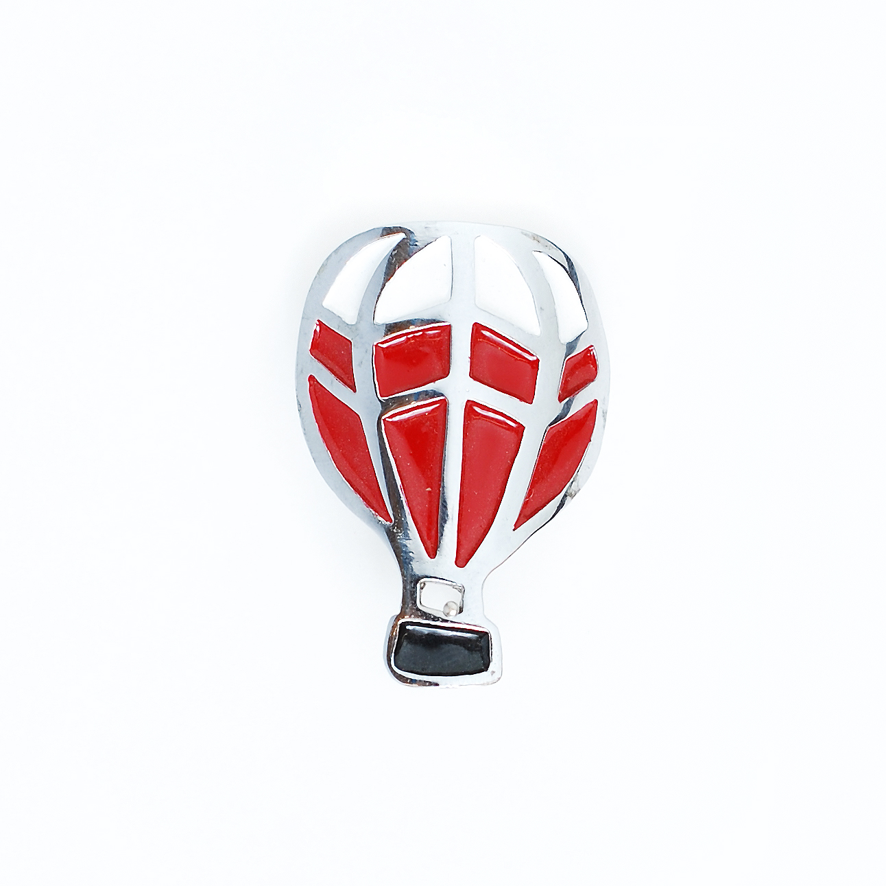 Red and White Hot Air Balloon