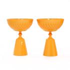orange candle bowls