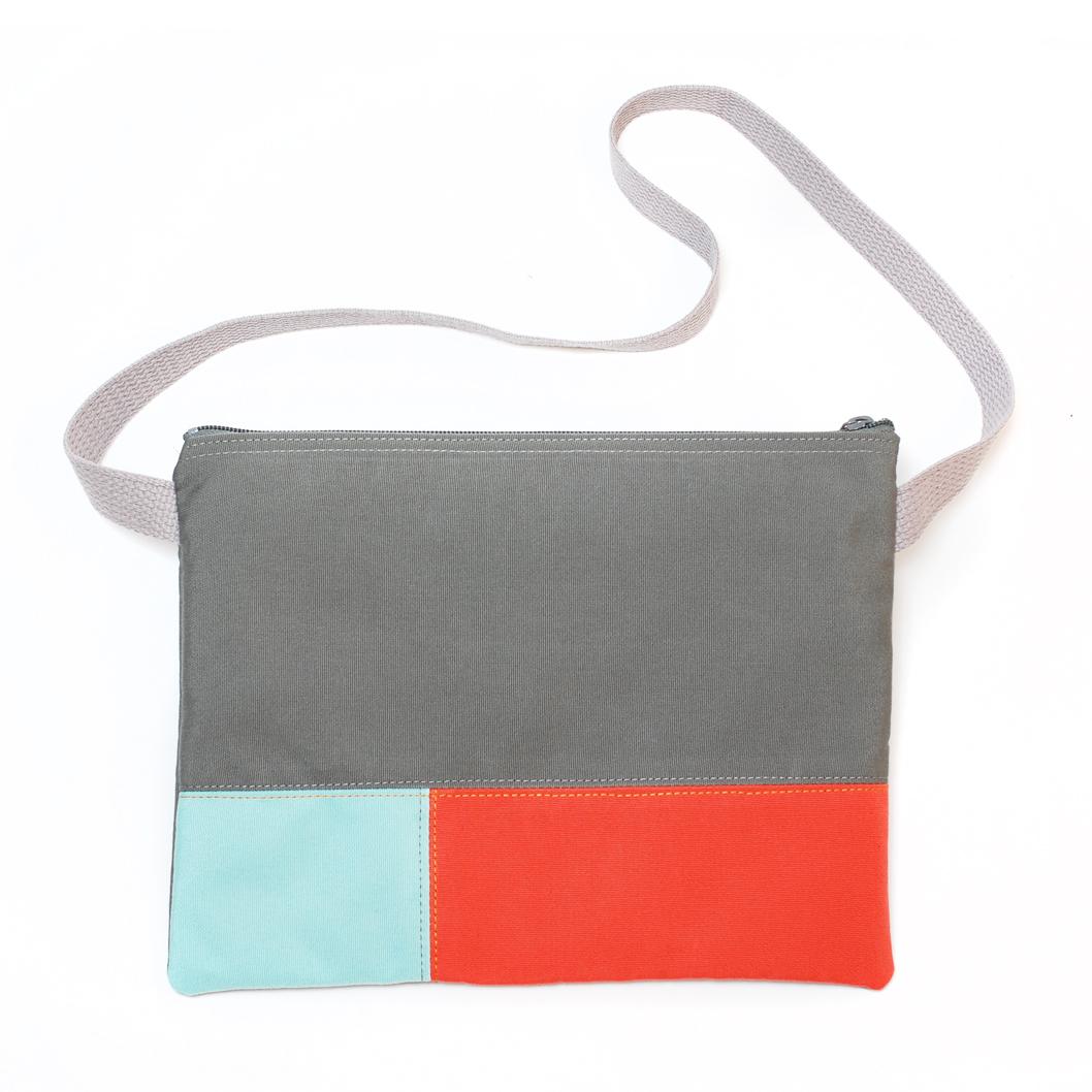 Dark Grey / Orange / Light Blue