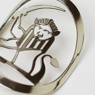 Lion and Sword Headbadge